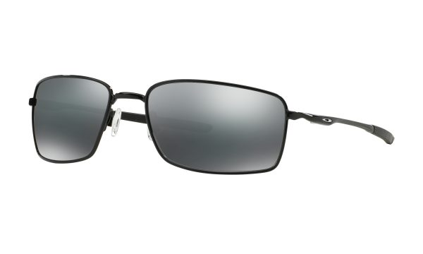 OAKLEY Square Wire Sunglasses - Polished Black - Prizm Black Lens