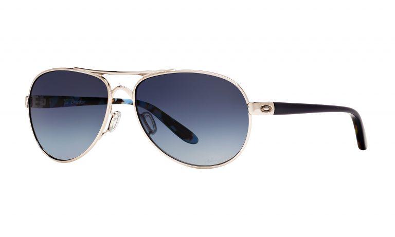 OAKLEY Tie Breaker Sunglasses - Polished Chrome - Grey Gradient Polarized Lens