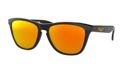 OAKLEY Frogskins Sunglasses - Valentino Rossi Signature Series - Polished Black - Fire Iridium Lens