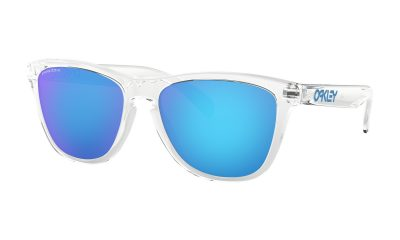 OAKLEY Frogskins Sunglasses - Crystal Clear - Prizm Sapphire Lens