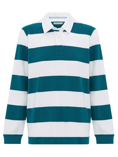 RM Williams Ladies Clermont Rugby Shirt - Jade Green
