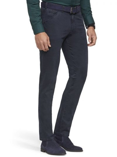 MEYER Chinos - Chicago 5573 Mid-Weight Cotton - Navy