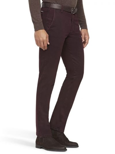 MEYER Chinos - New York 5572 Heavy Weight Cotton - Bordeaux