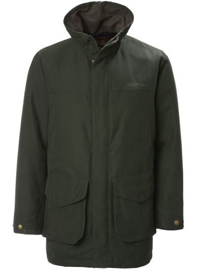 MUSTO Shooting Jacket - Mens Whisper Highland Gore-Tex Primaloft - Dark Moss