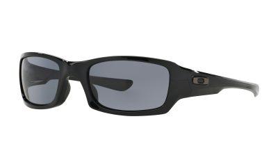 OAKLEY Fives Squared Sunglasses - Polished Black - Grey Lens