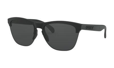 OAKLEY Frogskins Lite Sunglasses - Matte Black - Grey Lens