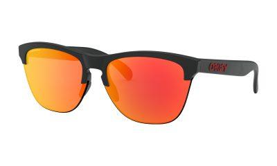 OAKLEY Frogskins Lite Sunglasses - Matte Black - Prizm Ruby Lens