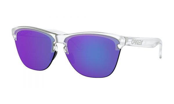 OAKLEY Frogskins Lite Sunglasses - Matte Clear - Violet Iridium Lens