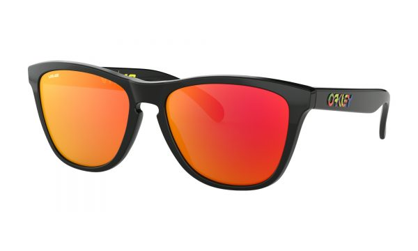 OAKLEY Frogskins Sunglasses - Valentino Rossi Signature Series - Polished Black - Prizm Ruby Lens