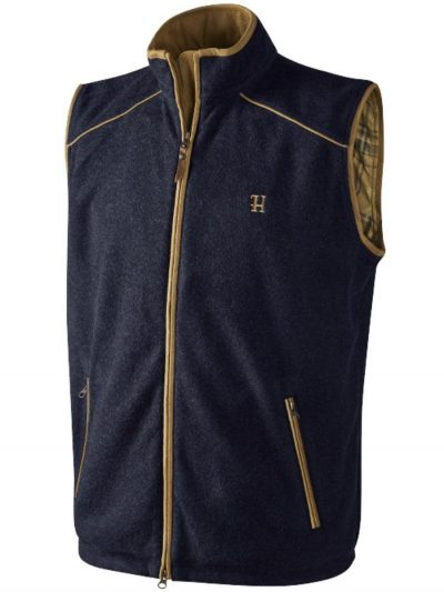 HARKILA Gilet - Mens Sandhem Polartec Fleece - Dark Navy
