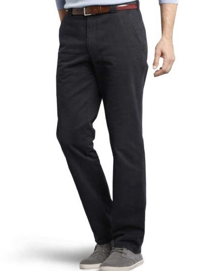 MEYER Chinos - Roma 316 Luxury Soft Cotton - Navy