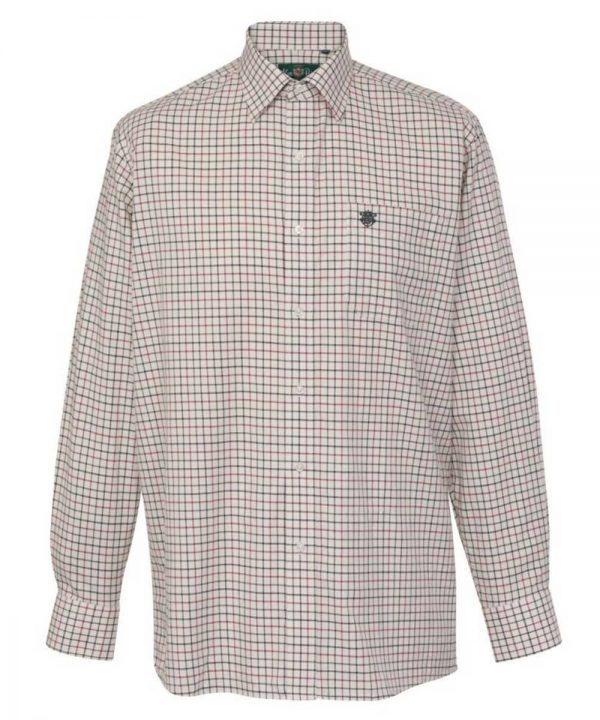 ALAN PAINE - Mens Ilkley Country Check Shirt - Red