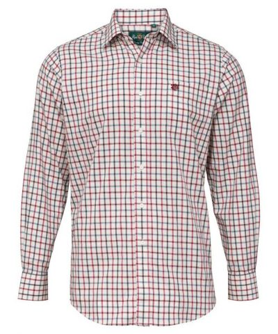ALAN PAINE - Mens Ilkley Country Check Shirt - Country Red