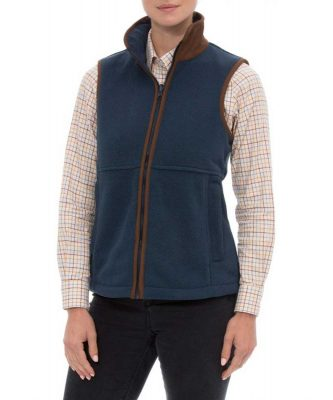 ALAN PAINE - Ladies Aylsham Fleece Gilet - Blue Steel