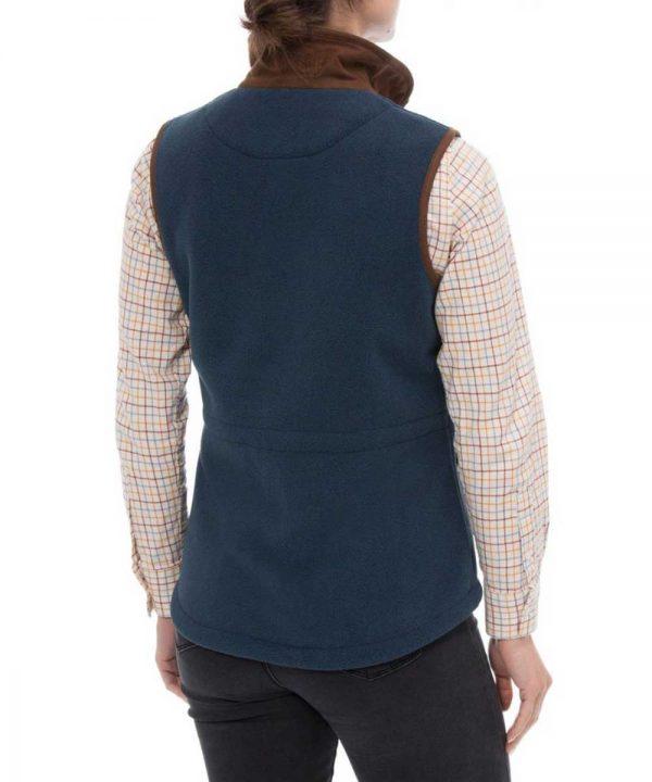 ALAN PAINE - Ladies Aylsham Fleece Gilet - Blue Steel
