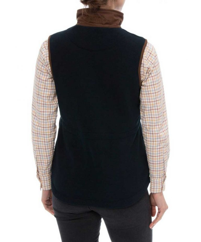ALAN PAINE - Ladies Aylsham Fleece Gilet - Dark Navy