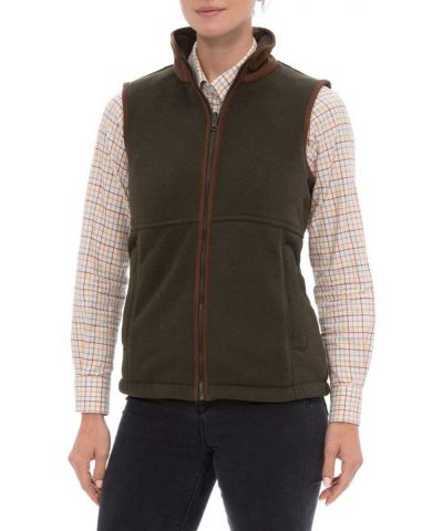 ALAN PAINE - Ladies Aylsham Fleece Gilet - Green