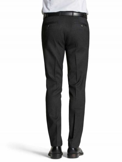 MEYER Trousers - Oslo 303 Gabardine Teflon Wool-Mix - Expandable Waist - Charcoal