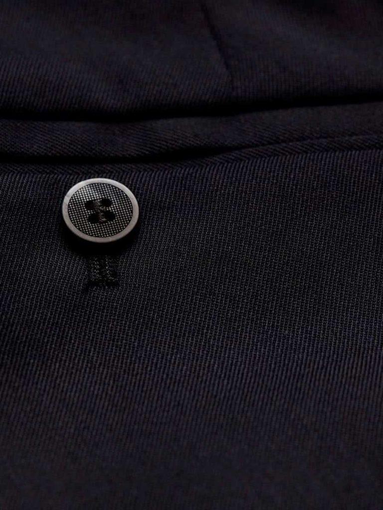 MEYER Trousers - Oslo 303 Gabardine Teflon Wool-Mix - Expandable Waist - Navy