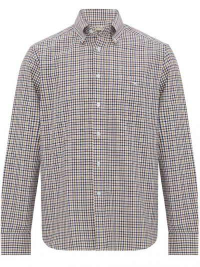 RM WILLIAMS Shirt - Men's Collins - Navy & Camel Check