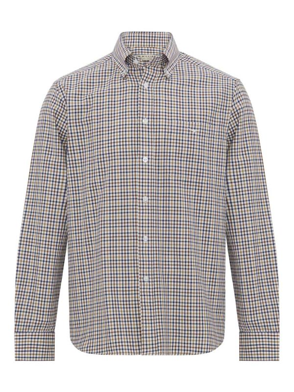 RM WILLIAMS Shirt - Men's Collins - Blue & Yellow Check