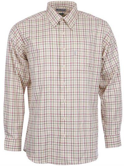 BARBOUR Shirts - Men's Maud - Regular Fit - Red & Khaki Check