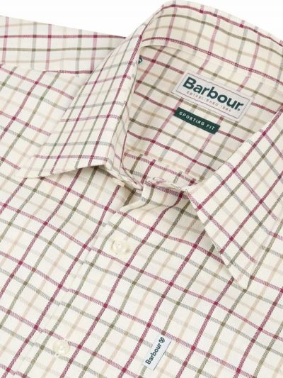 BARBOUR Shirts - Men's Maud - Regular Fit - Red & Khaki Check