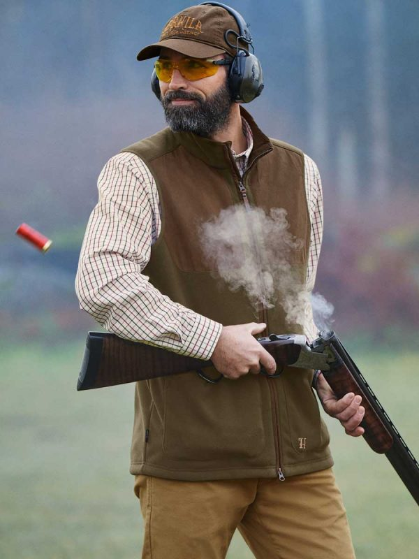 HARKILA Waistcoat - Mens Stornoway Active Shooting - Willow Green