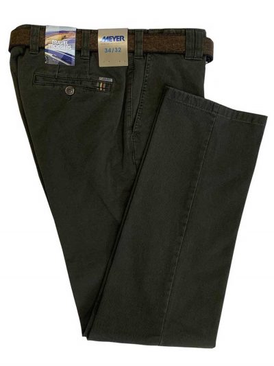 MEYER Chinos - Oslo 5552 Soft Cotton - Expandable Waist - Green