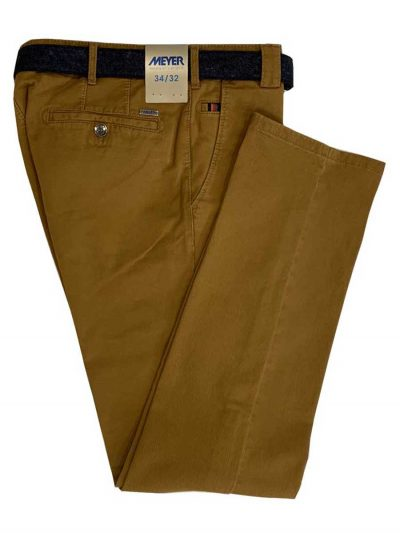 MEYER Chinos - Roma 5552 Luxury Soft Cotton - Mustard