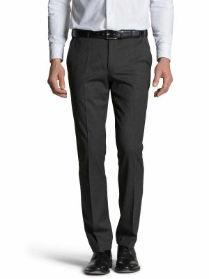 MEYER Trousers - Oslo 303 Gabardine Teflon Wool-Mix - Expandable Waist - Navy