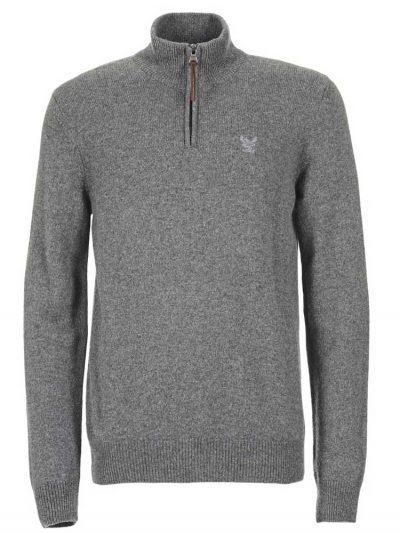 AIGLE Jumper - Gontab Half Zip Sweater - Heather Grey