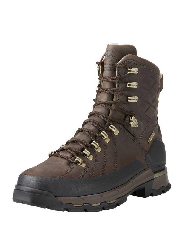 """ARIAT Boots - Mens Catalyst VX Defiant 8"""" GTX - Bitter Brown"""