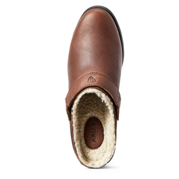 ARIAT Shoes - Womens Sport Mule Fur Lined - Timber