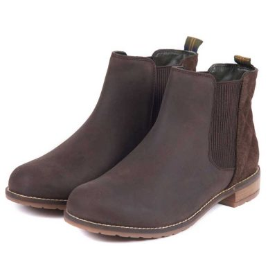 BARBOUR Boots - Ladies Abigail Low Cut Chelsea - Chocolate Brown