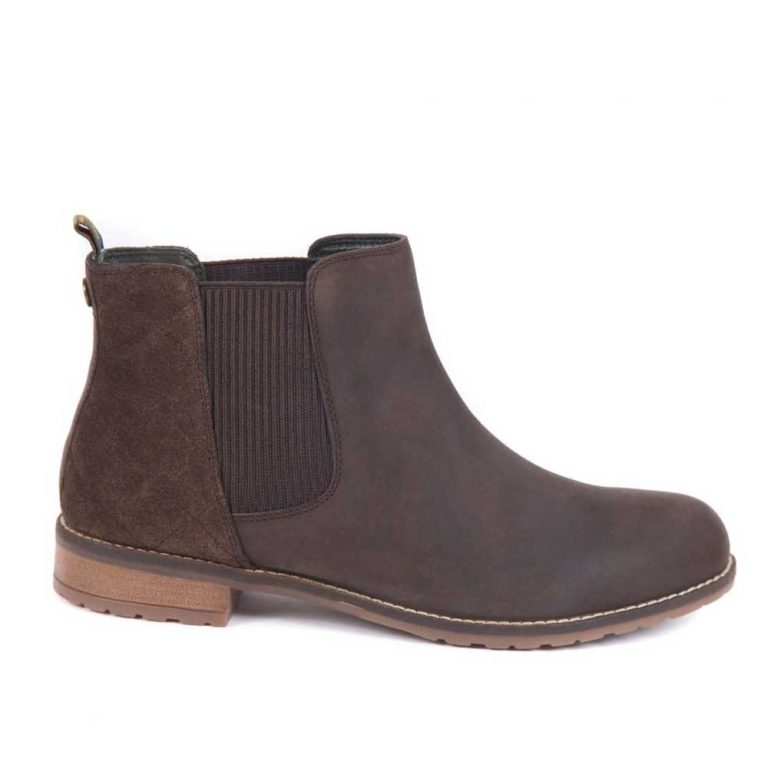 BARBOUR Boots - Ladies Abigail Low Cut Chelsea - Chocolate Brown