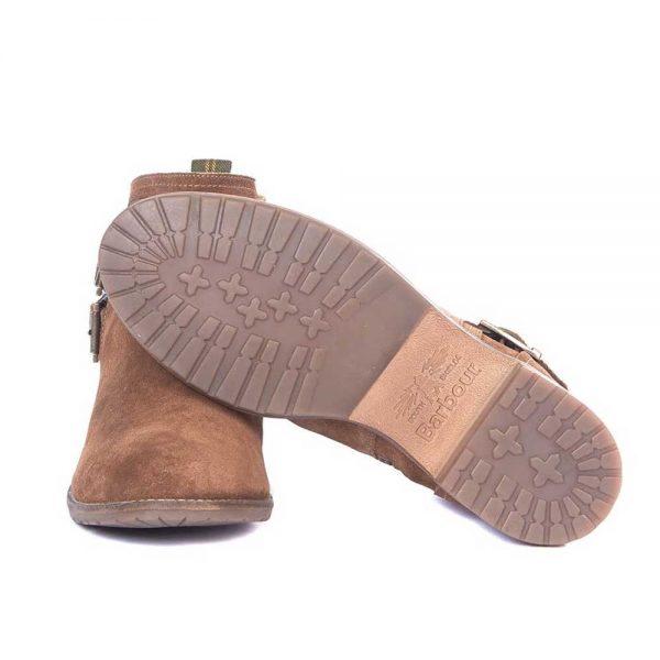 BARBOUR Boots - Ladies Sarah Low Cut Buckle - Caramel Suede