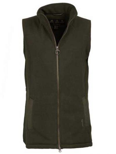 BARBOUR Gilet - Ladies Dunkeld Fleece - Olive