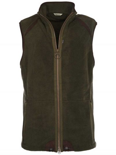 BARBOUR Gilet - Mens Langdale Fleece - Olive