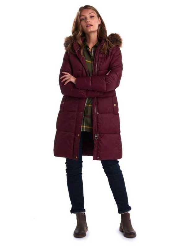 BARBOUR Quilted Jacket - Ladies Caldbeck - Bordeaux