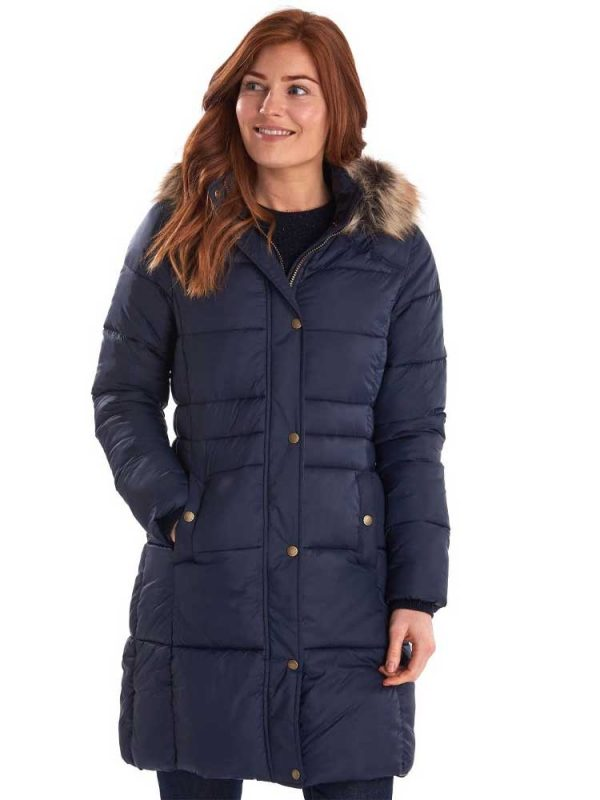 BARBOUR Quilted Jacket - Ladies Caldbeck - Navy