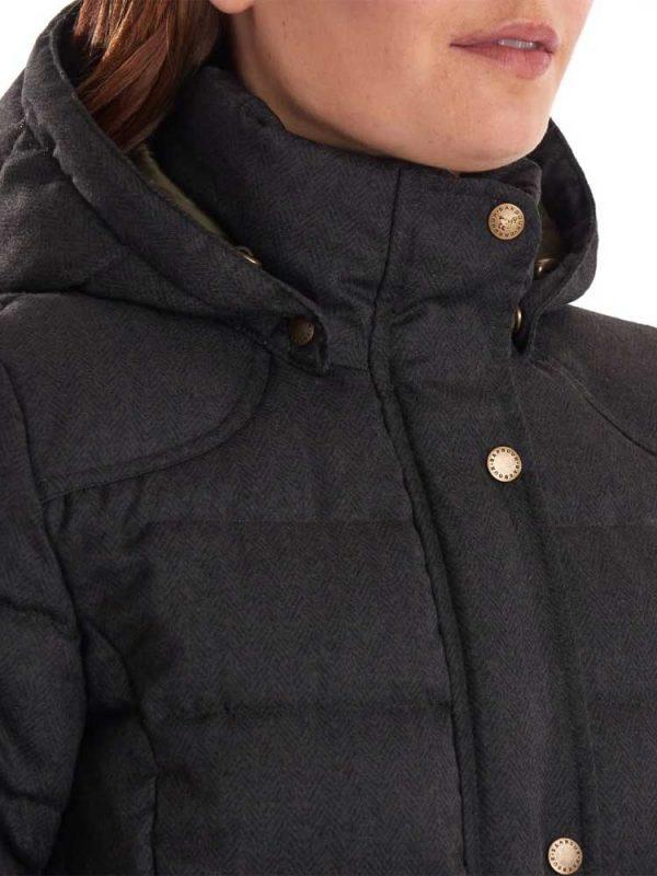 BARBOUR Quilted Jacket - Ladies Lonnen - Olive Herringbone