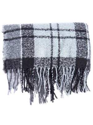 BARBOUR Scarf - Tartan Boucle Wrap - Grey Juniper
