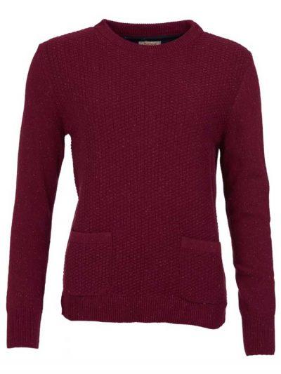 BARBOUR Sweater - Ladies Brecon Knit - Soft Bordeaux