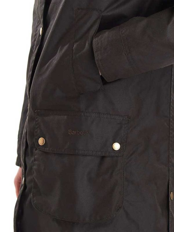 BARBOUR Wax Jacket - Ladies Canfield - Olive