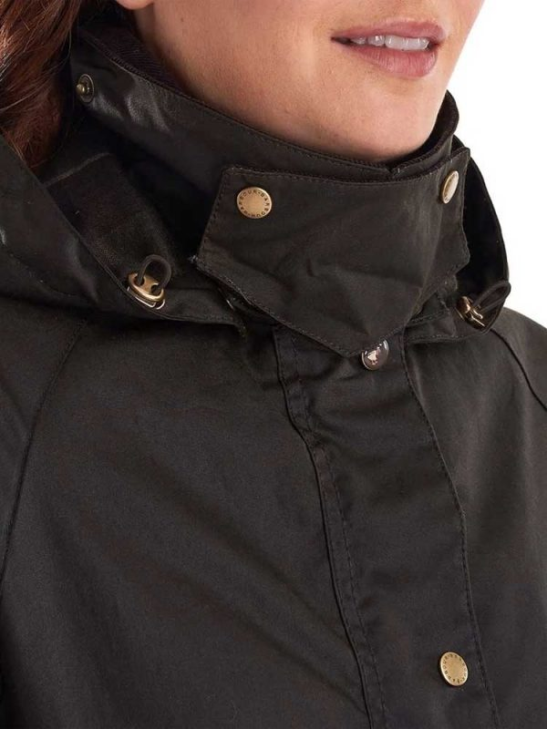 BARBOUR Wax Jacket - Ladies Canfield - OliveBARBOUR Wax Jacket - Ladies Canfield - Olive