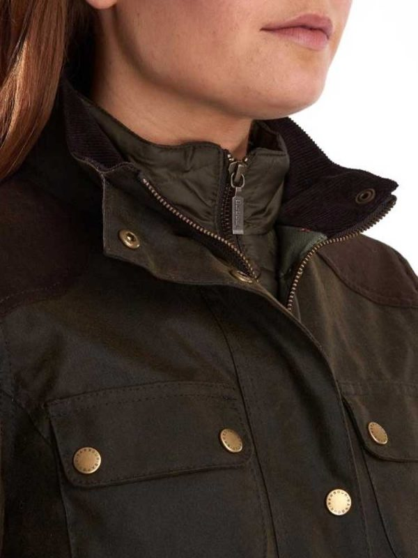 BARBOUR Wax Jacket - Ladies Dene - Olive
