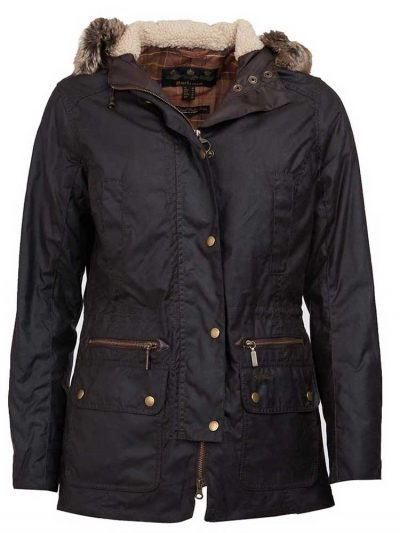 BARBOUR Wax Jacket - Ladies Kelsall Parka - Rustic