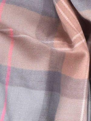 BARBOUR Wrap - Hailes Tartan - Taupe Pink