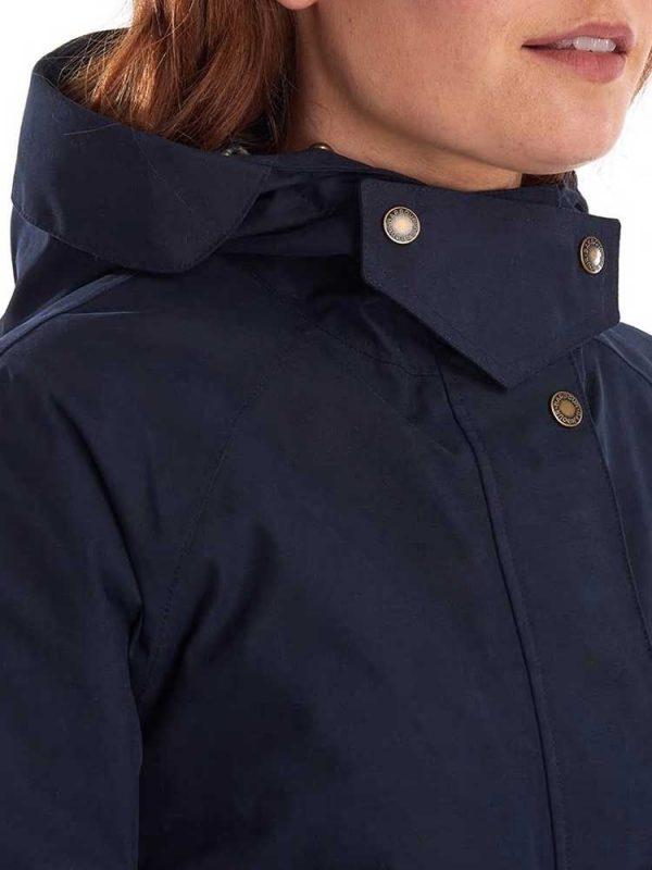 BARBOUR X Emma Bridgewater Jacket - Ladies Bryony Waterproof - Navy